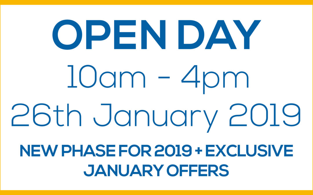 Open Weekend – 10am to 4pm 26th January 2019